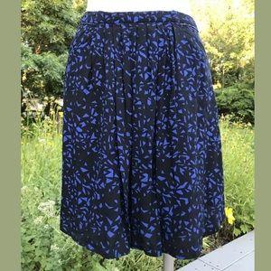 Comptoir Des Cotonniers Black Blue Geometric Skirt
